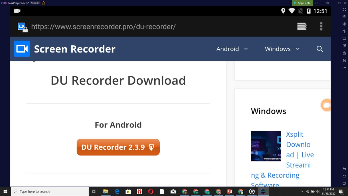 du recorder download with nox player
